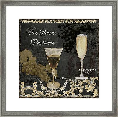 Fine French Wines - Vins Beaux Parisiens Framed Print by Audrey Jeanne Roberts