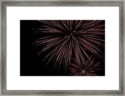 Fireworks Framed Print by Chuck Bailey
