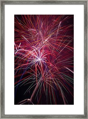Fireworks Exploding Framed Print