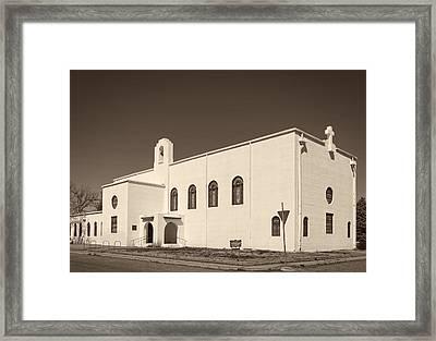 First Christian Church Of Marfa Texas Framed Print