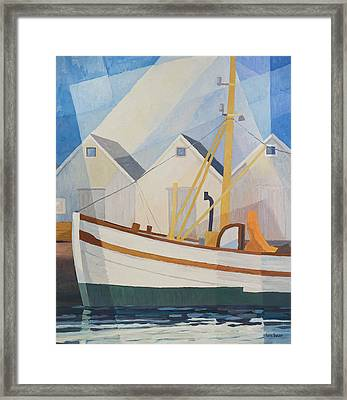 Fishing Boat Framed Print by Lutz Baar