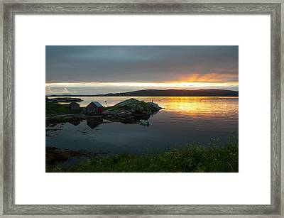 fishing in Norway Framed Print by Tamara Sushko
