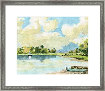 Fishing Lake Framed Print