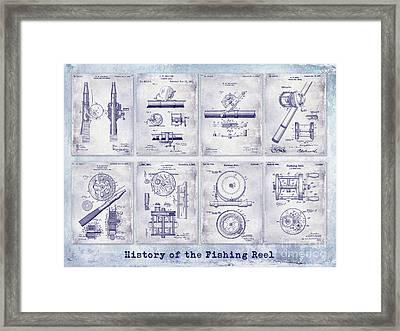 Fishing Reel Patent History Framed Print