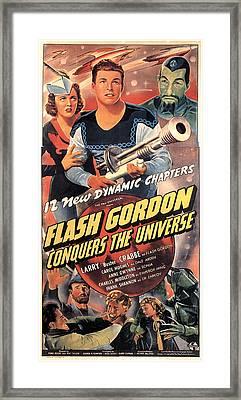 Flash Gordon Conquers The Universe Framed Print