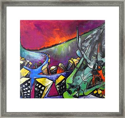 Flight Of Death Framed Print