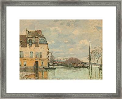 Flood At Port - Marly Framed Print