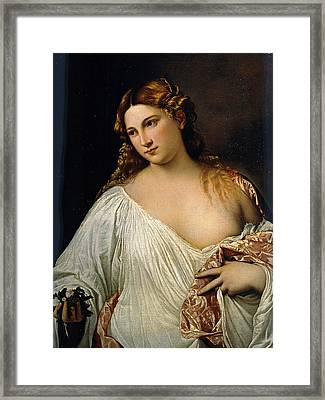 Flora Framed Print by Titian