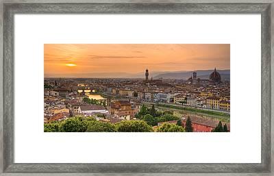Florence Sunset Framed Print by Mick Burkey