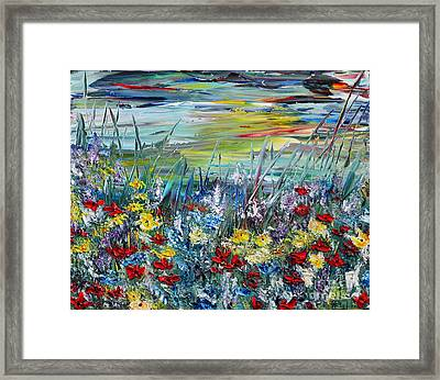 Flower Field Framed Print by Teresa Wegrzyn