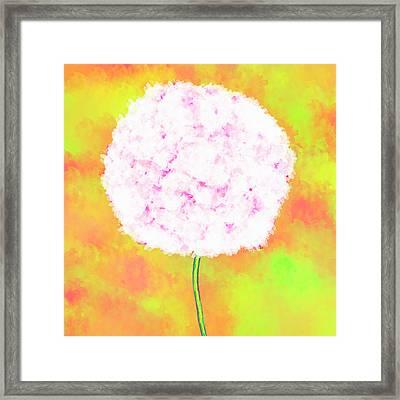 Flower On Yellow Framed Print