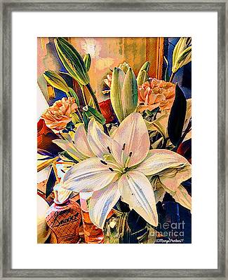 Flowers For You Framed Print by MaryLee Parker