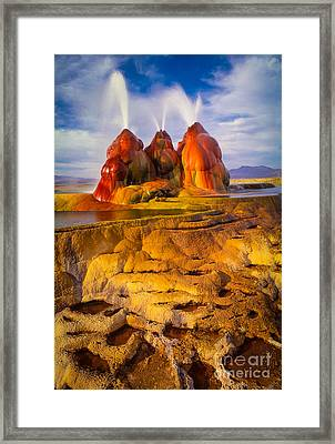 Fly Geyser Framed Print by Inge Johnsson