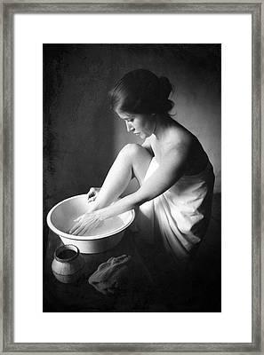 Footwasher Framed Print