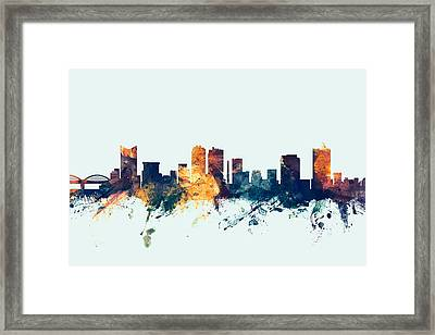 Fort Worth Texas Skyline Framed Print by Michael Tompsett