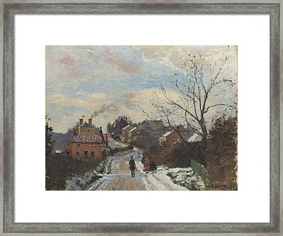 Fox Hill Upper Norwood Framed Print by Camille Pissarro