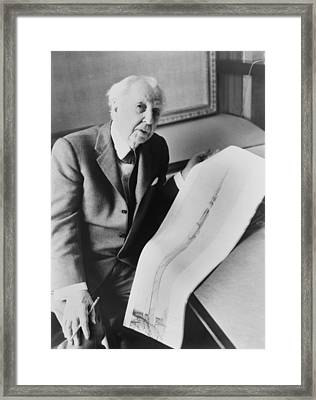 Frank Lloyd Wright 1867-1959, American Framed Print by Everett