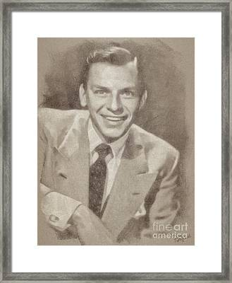 Frank Sinatra Hollywood Singer And Actor Framed Print by John Springfield