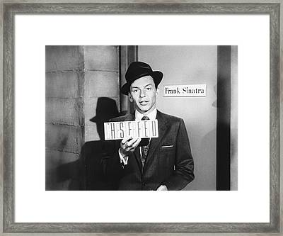 Frank Sinatra Framed Print by Underwood Archives