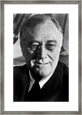 Franklin D. Roosevelt 1882-1945, U.s Framed Print by Everett