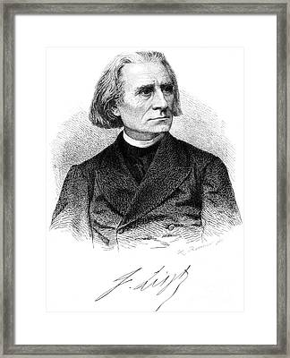 Franz Liszt, Hungarian Composer Framed Print by Science Source