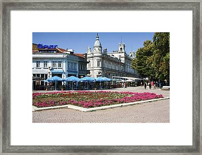 Freedom Square, Ruse, Bulgaria Framed Print by Sally Weigand