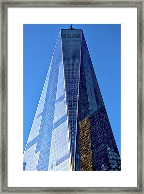 Framed Print featuring the photograph Freedom Tower by Mitch Cat