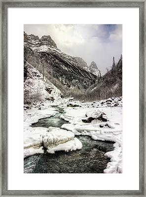 Freeze-up At Dan Creek Framed Print