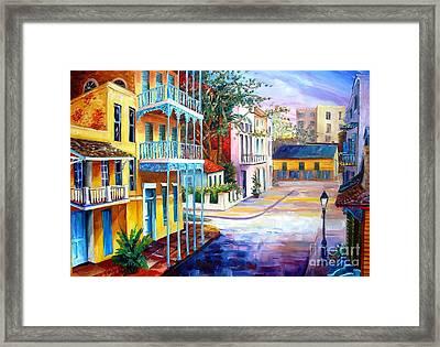French Quarter Sunrise Framed Print by Diane Millsap
