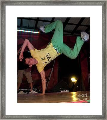 Fresh Trix Breakdancing At Bonnaroo Music Festival Framed Print by David Oppenheimer