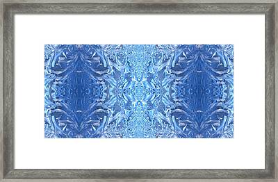 Frost Feathers Framed Print