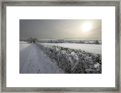 Frozen Britain Framed Print