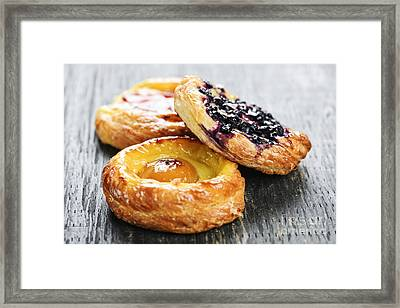 Fruit Danishes Framed Print
