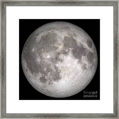Full Moon Framed Print by Stocktrek Images