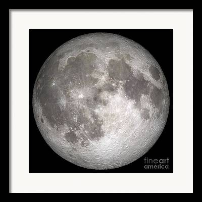 Lunar Nearside Framed Prints