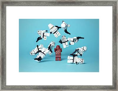 Funny Lego Stormtrooper Lego Strormtroopers                  Framed Print by F S