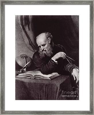 Galileo Galilei, Italian Polymath Framed Print by Science Source