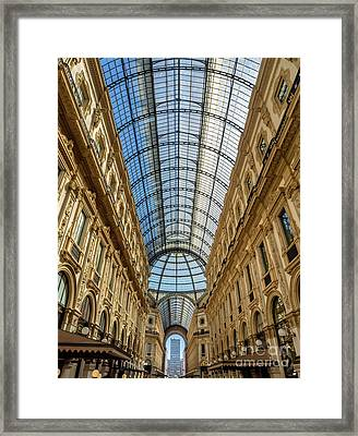 Galleria Vittorio Emanuele II Shopping Art Mall In Milan Framed Print
