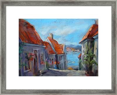 Gamle Bergen Framed Print by Joan  Jones