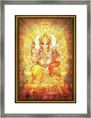 Ganesha Ganapati - Success Framed Print