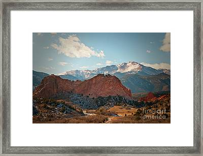 Garden Of The Gods Framed Print