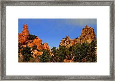 Garden Of The Gods Framed Print by Patrick  Short