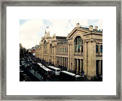 Gare Du Nord Framed Print by Diana Moya