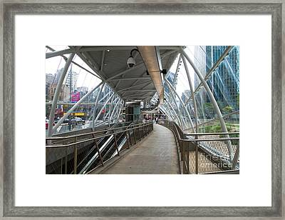 Gateway T Station Pittsburgh Framed Print by Amy Cicconi