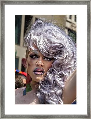 Gay Pride Parade Nyc 2016 Drag Queen Framed Print