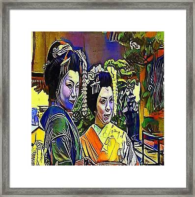 geisha - My WWW vikinek-art.com Framed Print by Viktor Lebeda