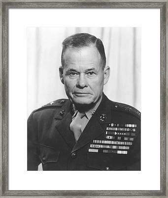 General Lewis Chesty Puller Framed Print by War Is Hell Store