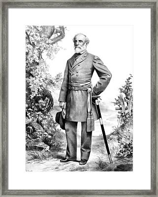 General Robert E Lee Framed Print by War Is Hell Store