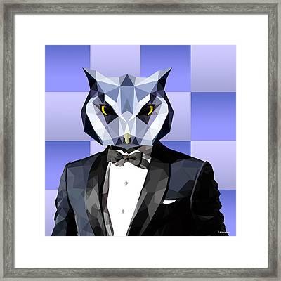 Geometric Owl Framed Print