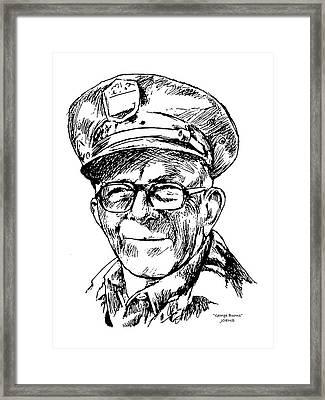 George Burns Framed Print by Greg Joens